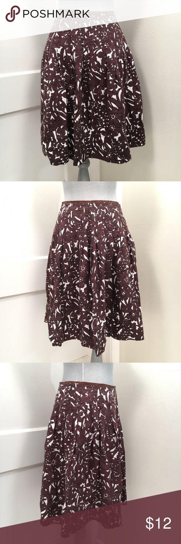 Zara floral linen pleated skirt Super cute linen skirt by Zara! zara Skirts A-Line or Full