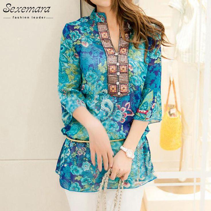 Dmart7deal;Blouse Shirt Vestidos Chiffon Mini Dress Plus size floral Mujer