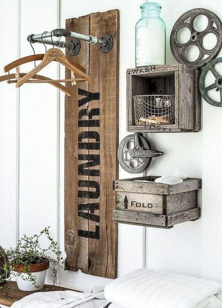 Adorable 60 Modern Farmhouse Laundry Room Decor Ideas https://decoremodel.com/60-modern-farmhouse-laundry-room-decor-ideas/