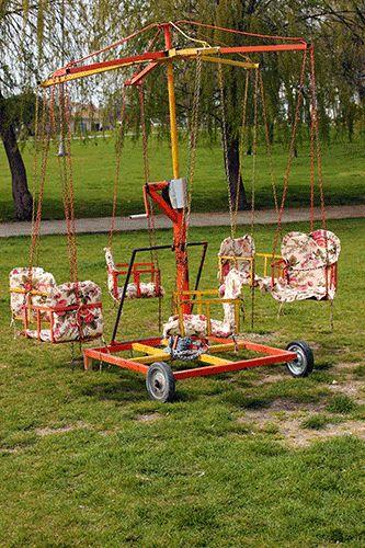 art and kitsch  mini carousel