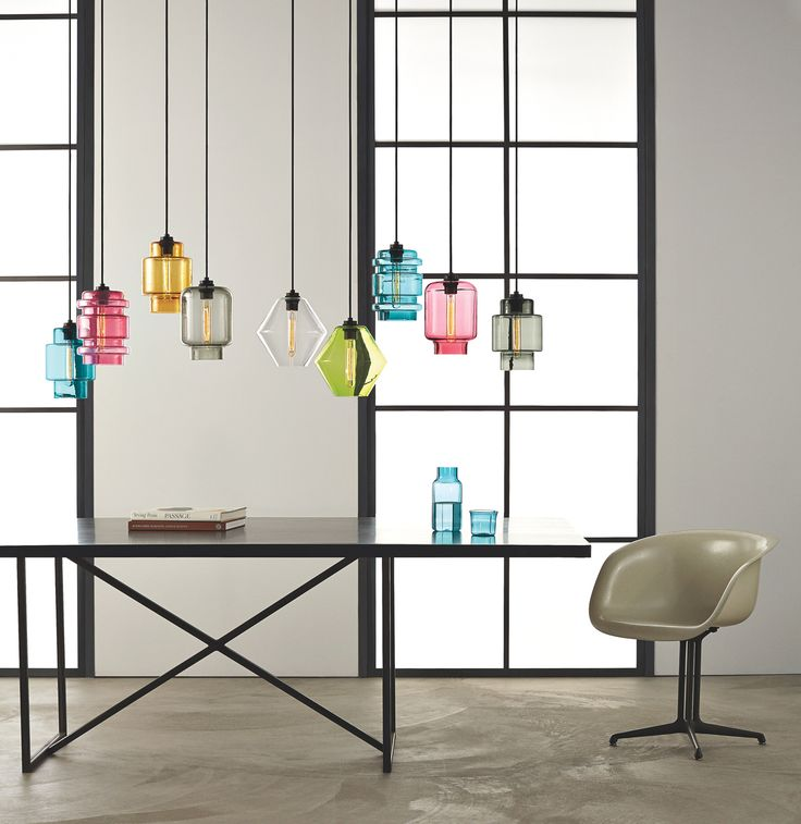 Modern colored glass pendant lamps light up the room - Colored glass pendant lights ...