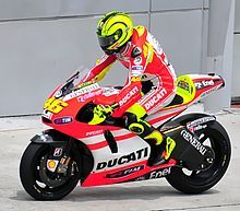 Rossi in sella alla Ducati Desmosedici durante i test pre-stagionali in Malesia,fu un anno molto sfortunato per lui,visto che la moto non rendeva come voleva
