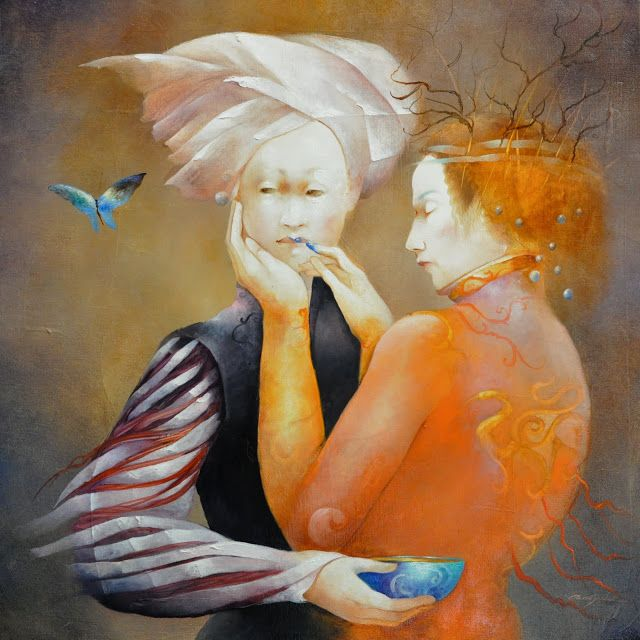 Anne Bachelier 1949 | French Surrealist painter