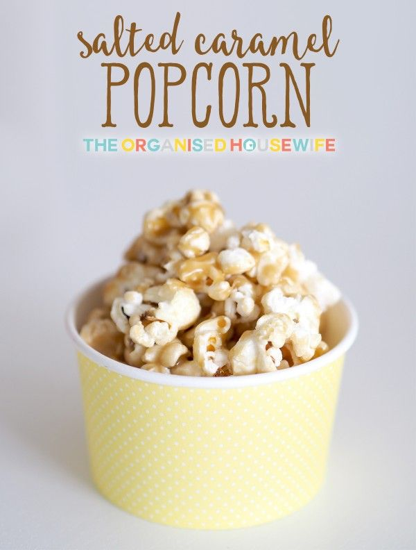 salted-caramel-popcorn - thermomix recipe. Made for girls 13/4/16