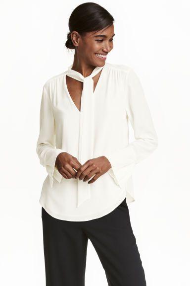 Tie-neck blouse | H&M