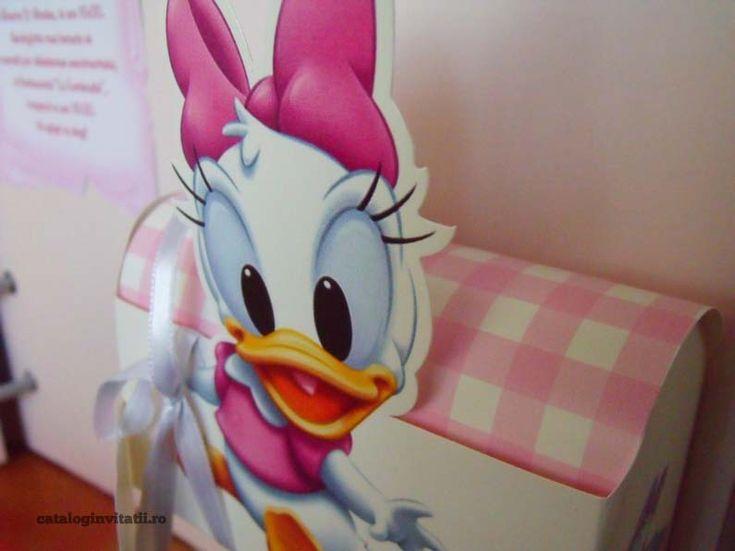 Invitatie botez cufar ratusca Daisy 104