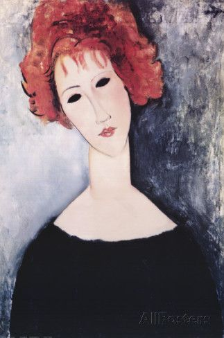 Redhead Prints by Amedeo Modigliani at AllPosters.com