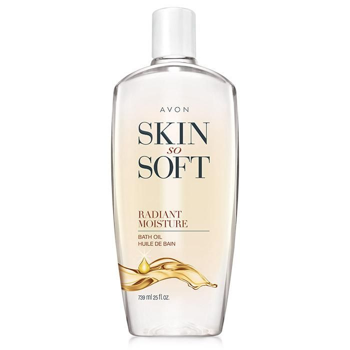 Skin So Soft Bonus-Size Radiant Moisture Bath Oil. The Skin So Soft Radiant Moisture Bath Oil will uncover your skin's radiance. Soften your skin with this luxurious, delicately floral scented bath oil. The emollient-rich formula, with argan oil, locks in moisture and leaves skin feeling silky smooth. Can also be used as a leave-on moisturizer anytime. Keep your skin hydrated longer with the larger 25 fl oz. bottle!