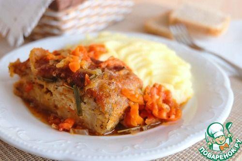 Пикша в томатном соусе с овощами - кулинарный рецепт
