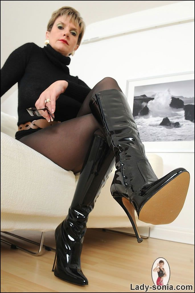 Pin By Highboot Boot On Boots, Knee  Lady, Mistress, Leather-3765