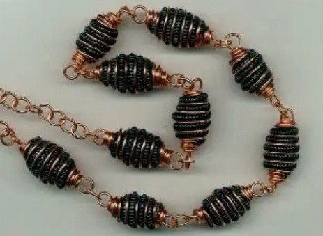 More coiled wire beads video
