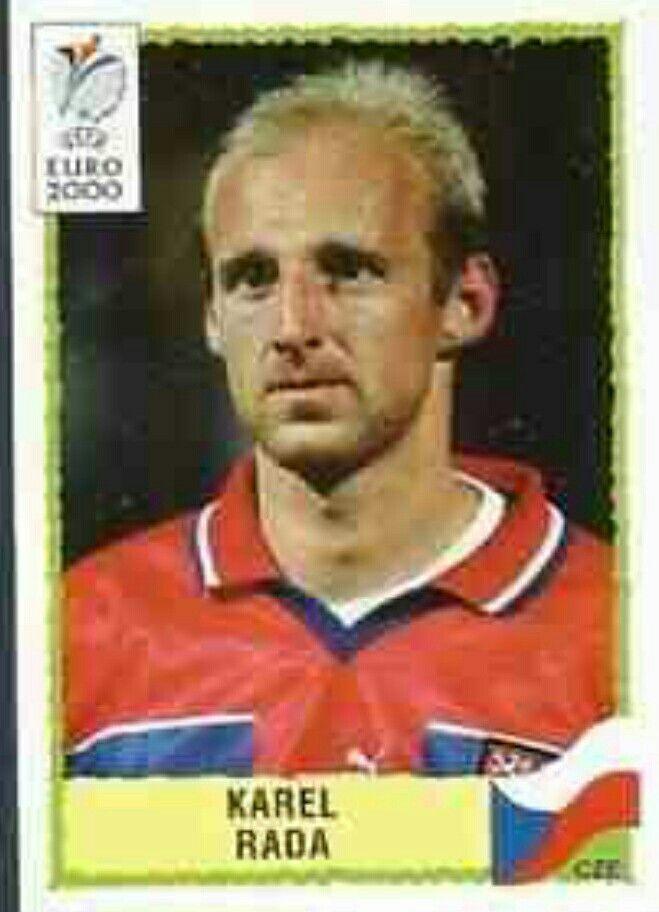 Karel Rafa of Czech Republic. Euro 2000 card.