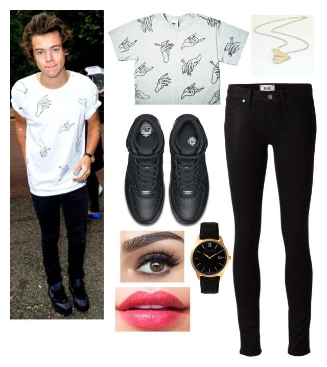 """""""Harry Styles"""" by coolrose723 ❤ liked on Polyvore featuring Paige Denim, NIKE and Larsson & Jennings"""