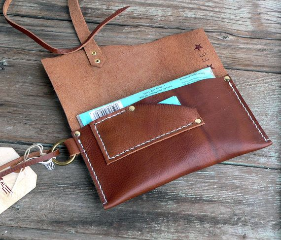 Tobacco Pouch Leather simple pouch case Hand stitched for him