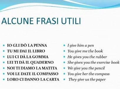 Verbi italiani irregolari - DARE (dati - to give) - primeri ~ Learn Italian
