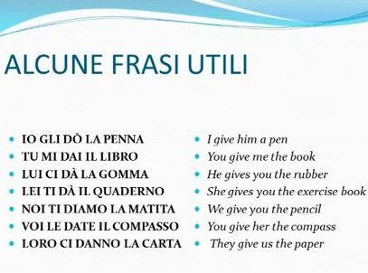 Verbi italiani irregolari - DARE (dati - to give) - primeri ~ Learn Italian