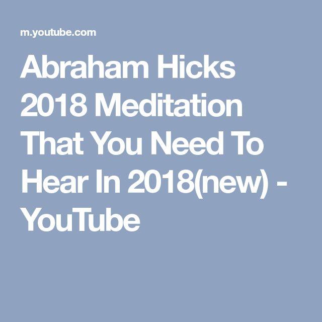 abraham hicks how to feel better youtube 2018