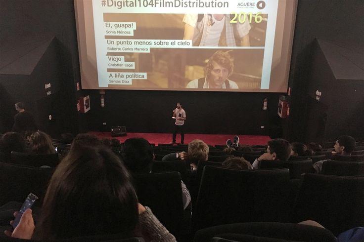Un momento de la Proyección  de cortometrajes de #Digital104FilmDistribution 2016. En Aguere Espacio Cultural (La Laguna, Tenerife). 14/10/2016