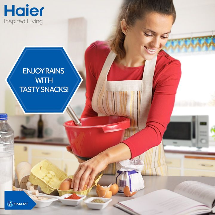 #Haier #microwaves with a range of auto cook menus give you a chance to enjoy a new tasty snack everyday this #monsoon.