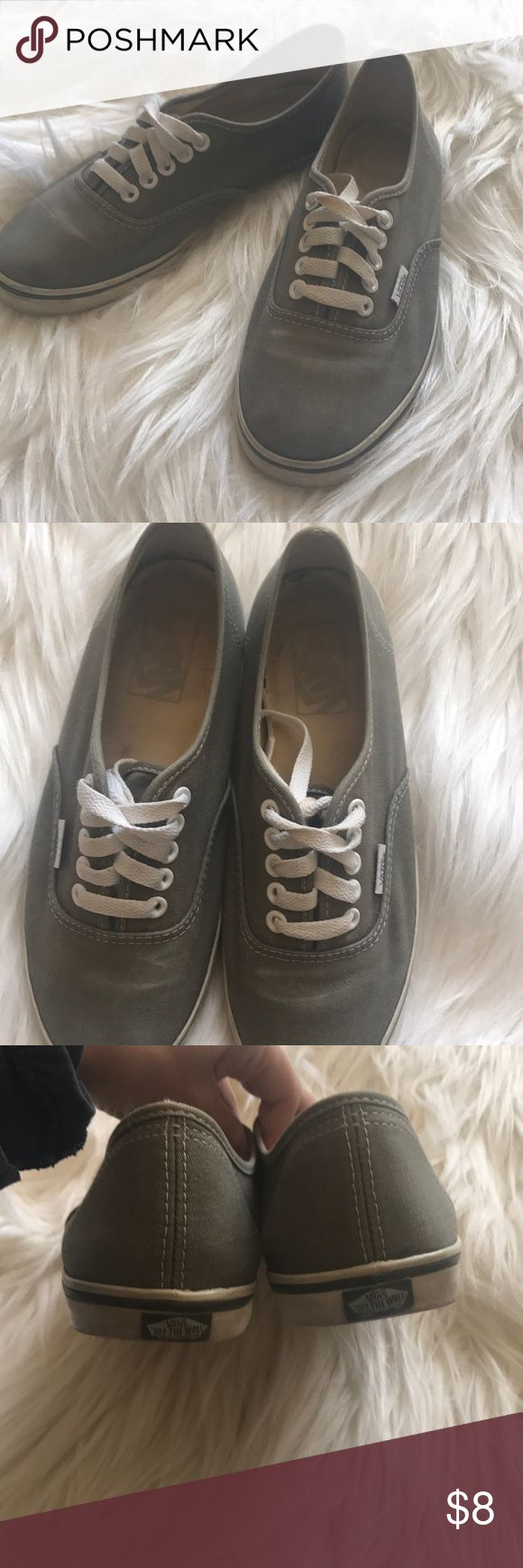 Gray vans tennis shoes Used gray vans tennis shoes. Size 7. Price negotiable Vans Shoes Sneakers