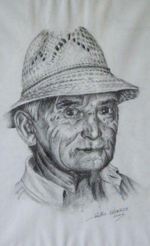 Manuel Blasco, study on Adolf  11 x 16. Drawing on cartridge, Phillip Carrero.