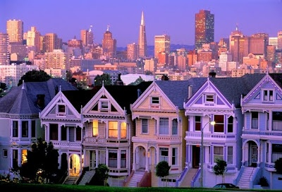 SFVictorian House, San Francisco California, Cities, Sanfrancisco, Gift Cards, Places, Fullhouse, Full House, Painting Lady