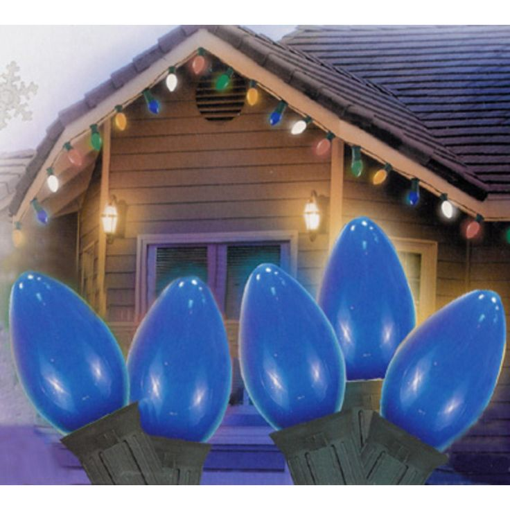25' Opaque Blue C7 Christmas Lights