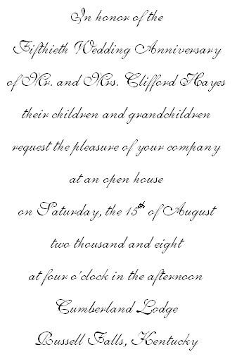 wedding invitations  for a 50th wedding anniversary | 50th wedding anniversary invitation wording | 50 th