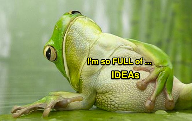 Ever have so many ideas you don't know what to choose? Which one excites you most? Choose that one! :-)