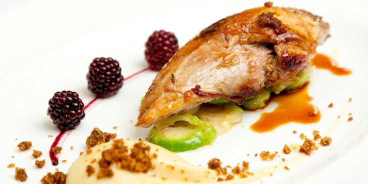 James Mackenzie's majestic dish showcases the very best of autumn/winter produce, serving pheasant breast with parsnip, blackberry and sprou...