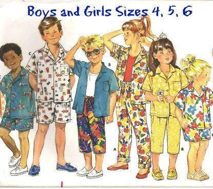 80s KID'S SPORTSWEAR PATTERN    Butterick by KeepsakesStudio, #vacationclothes