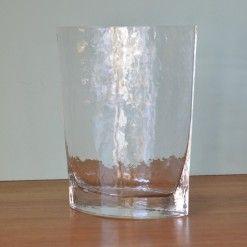 Dimpled glass vase