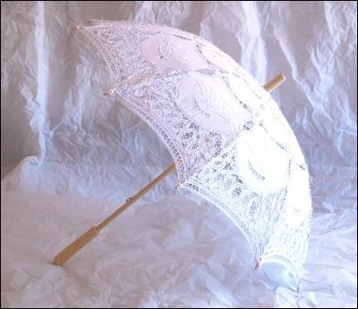 Ombrello Parasole di Pizzo Bianco www.veraclasse.it