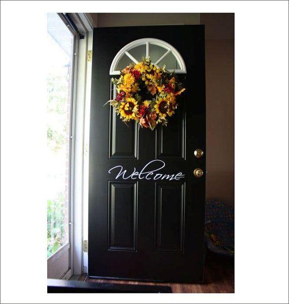 Welcome Door Vinyl Decal Front Door Wall Doorway Home Decor Housewares on Etsy $10.00 & Best 20+ Welcome door ideas on Pinterest | Door signs Welcome ... Pezcame.Com