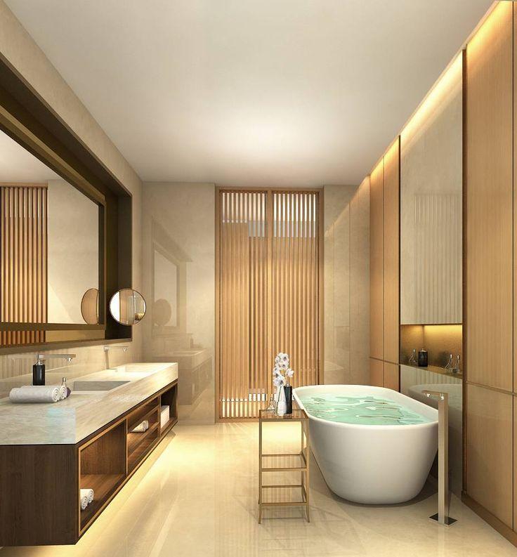 Photo Master Bathroom Apartment Apartemen Capital Residence 1 desain arsitek oleh Rieska Achmad - ARSITAG