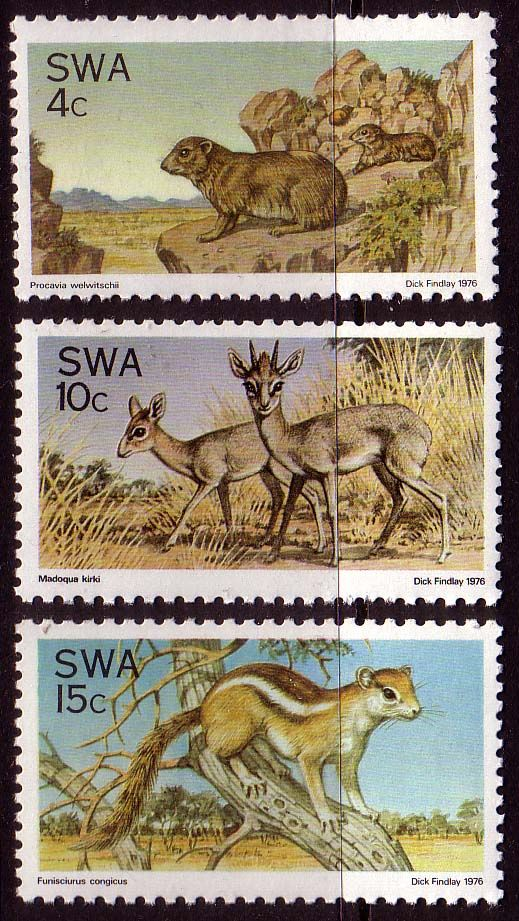 South West Africa 1976  Fauna Conservation Set Fine Mint SG 290 2 Scott 391 3  Other African and British Commonwealth Stamps HERE!