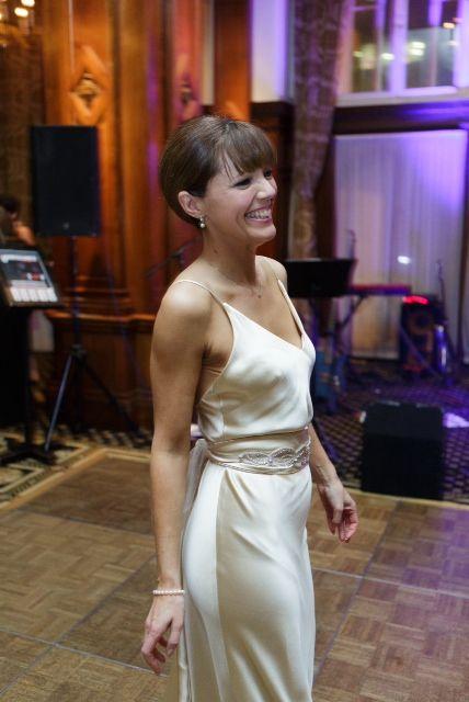 Dawn Wears Elsa A Bias Cut Backless Slinky Satin Wedding Dress Under