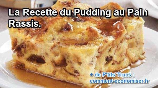 Vous cherchez un bon plan pour réutiliser votre pain à peine entamé et déjà rassis ? Nous vous proposons aujourd'hui de mettre vos talents de marmiton à profit avec cette recette astucieuse et pas chère : la recette du pudding au pain rassis.  Découvrez l'astuce ici : http://www.comment-economiser.fr/recette-pudding-pain-rassis.html?utm_content=bufferdf6c1&utm_medium=social&utm_source=pinterest.com&utm_campaign=buffer