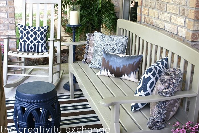 Charming Front Porch Revamp  How To Spray Paint Outdoor Furniture