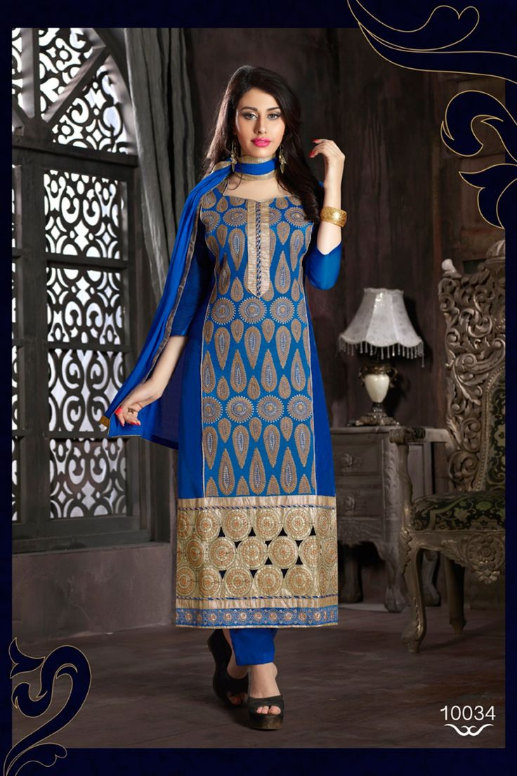 Blue Chanderi and Cotton Casual Salwar Kameez Online Shopping-Z2614P35-10034-136 #partywear #anarkali #salwar #kameez @ http://zohraa.com/salwar-kameez.html #celebrity #zohraa #onlineshop #womensfashion #womenswear #bollywood #look #diva #party #shopping #online #beautiful #beauty #glam #shoppingonline #styles #stylish #model #fashionista #women #lifestyle #fashion #original #products #saynotoreplicas