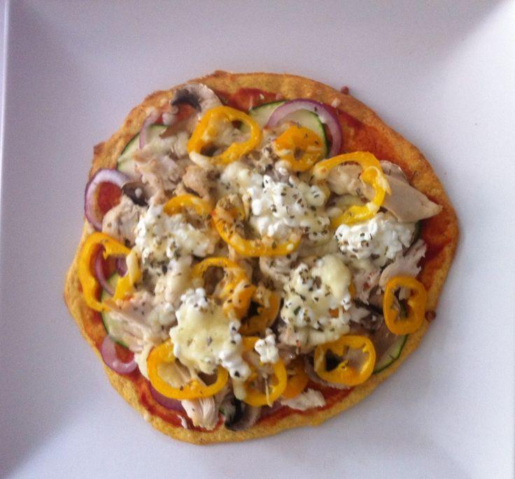Kaloriefattig pizza