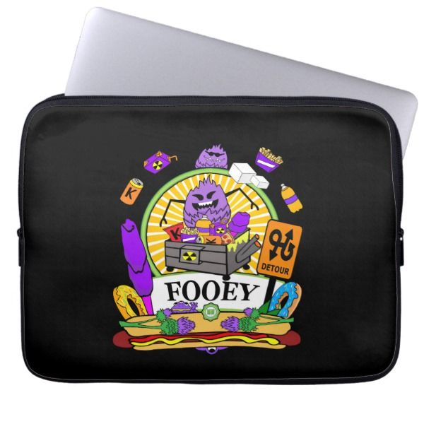 Neoprene Laptop Sleeve 13 Munchi Power! FOOEY logo Custom Brandable Electronics Gifts for your buniness #electronics #logo #brand