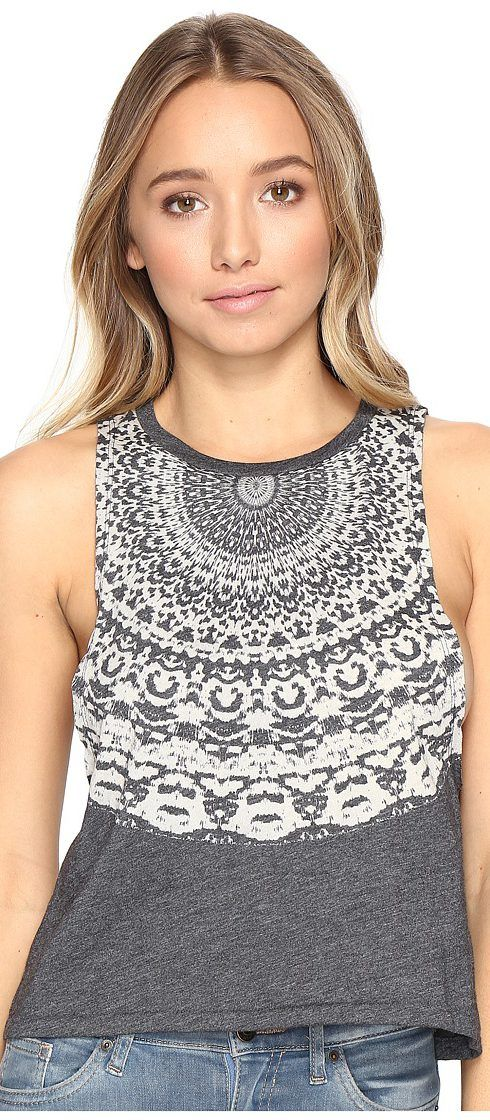Billabong Girls Surf Muscle Tee (Off-Black) Women's Sleeveless - Billabong, Girls Surf Muscle Tee, J924JGIR-OFB, Apparel Top Sleeveless, Sleeveless, Top, Apparel, Clothes Clothing, Gift, - Fashion Ideas To Inspire