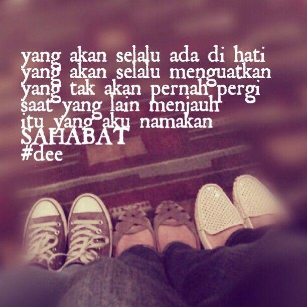 Sahabat  Inspiring words  Pinterest  Friendship and