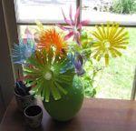 Geniales plantas hechas con material reciclable