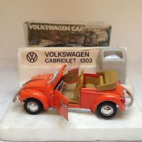 Polistil Politoys VW Käfer 1303 Cabriolet in orange  Neu in Box in 1/24 1/25