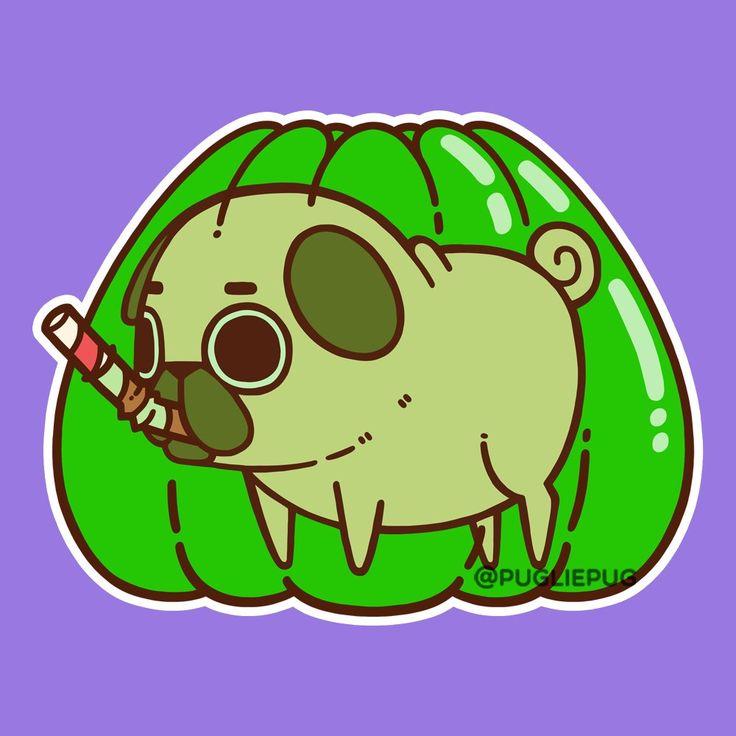 Desenho De Pug, Animais Kawaii, Desenhos
