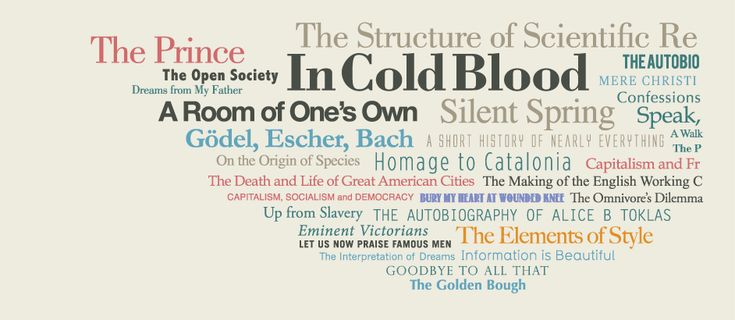 Visualized consensus on best non-fiction books according to respected sources inc. Pulitzer & the New York Times