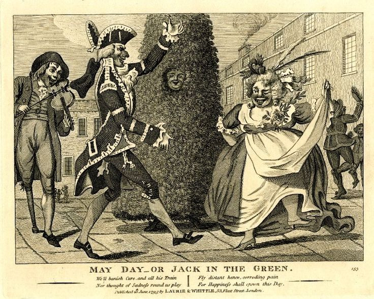 May Day - or Jack in the green, 1795. © The Trustees of the British Museum