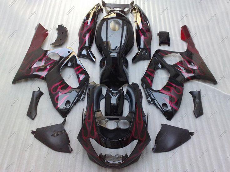 Fairing Kits YZF 600R 04 05 Fairing Kits for YAMAHA YZF600R 02 03 1997 - 2007 Black Red Flame Body Kits for YAMAHA YZF600R 04 05 #Affiliate